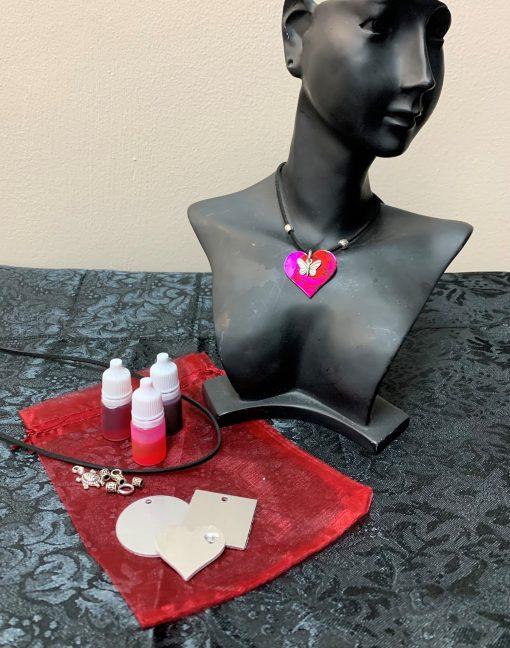 Valentine's Day Ink Art Necklace