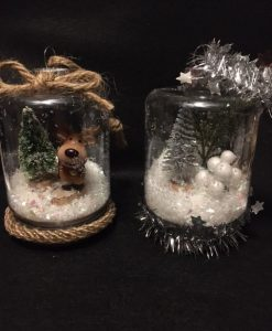 DIY Faux Snow Globes