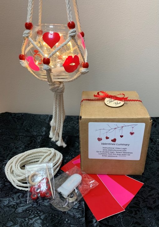 Macrame Lanterns for Valentine's Day